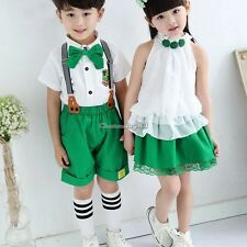Cute 2 Pieces Kids Baby Boys Girls Summer 2-7Y Suits Out Sets Outfits Children