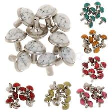 10pcs Mushroom Dome Cap Rivet Stud Spike Nail Buttons for Bag Leathercraft Decor