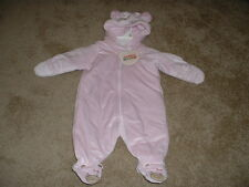 SOFT PINK SNOWSUIT PRAM 3M 6M 3 6 months m NWT NEW BABY INFANT GIRLS Cuddle Bear