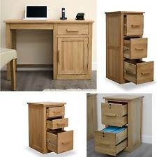 Arden solid oak office furniture small office computer desk with fiiling cabinet