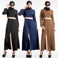 Kaftan Abaya Jilbab Islamic Muslim Cocktail Women Long Sleeve Vintage Maxi Dress