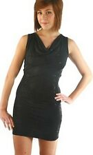 Womens Black Sequin Evening Dress Lace Back Sleeveless Party Dress Ladies Size
