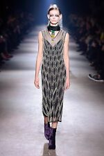 "NWT DRIES VAN NOTEN RUNWAY "" DETMER PEA"" PEARL EMBELLISHED 100% SILK DRESS"