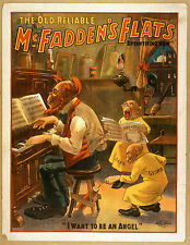 Photo Print Vintage Poster: Stage Theatre Flyer Old Reliable Mcfaddens Flats 01