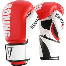 Title Boxing Infused Foam Ignite Power Hook and Loop Bag Gloves - Red/White
