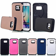 Shockproof Armor Soft Silicone Cover Hard Back Case For Samsung Galaxy S6 Edge
