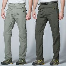 Outdoor Men's Detachable Quick Dry Trousers Hiking Climbing Camping Pants Shorts