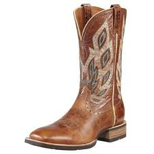 Ariat Nighthawk Men 2E Square Toe Leather Brown Western Boot