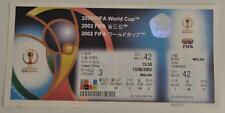 2002 FIFA World Cup Unused Tickets Matches Played in Korea and Japan (3A)