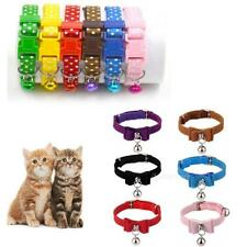 Puppy Kitten Cat Collars Buckle Safety Neck Collar Strap with Bell – Adjustable