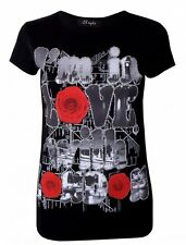 New Womens I'm In Love With London Short Sleeve Round Neck Casual TShirt Top M/L