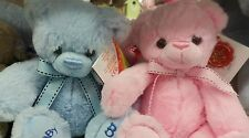 Baby girl, Boy Teddy Bear super soft KEEL bear pink or blue 18cm Birth Gift