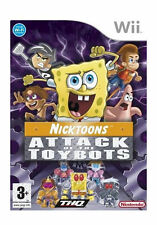 NICKTOONS: ATTACK OF THE TOYBOTS (Nintendo Wii, 2007) WII KIDS FUN GAME & MANUAL