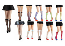 PAMELA MANN FISHNET KNEE HIGH SOCKS MESH NET - LOTS OF COLOURS