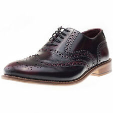 London Brogues Handcrafted Brogue Mens Brogues Burgundy New Shoes
