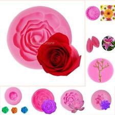 3D Flower Plant Silicone Cake Mold Fondant Mould Pastry Decorating Tool 8 Types
