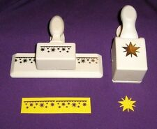 Lot of 2 Martha Stewart Radiant Star Punch and Star Edger Border Punch