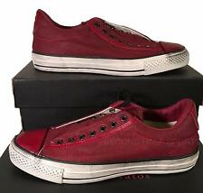 Converse John Varvatos Burnished Canvas Chuck Taylor Slip on Sneaker Red 147348C