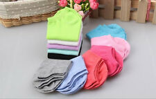 10 Pairs New Women Low Cut Ladies Boat Short Cotton  Ankle Socks Gift Pink Blue*