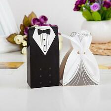 10pcs/set New Fashion Bride and Groom Wedding Favor Boxes Gift Box Candy Boxes