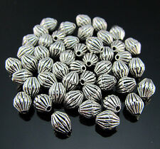 FREE Tibetan silver Biconical Pendant Rondelle Jewelry Design spacer beads 6MM