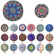 Bohemian Indian Mandala Floor Pillow Case Throw Cushion Cover Decorative Pouf