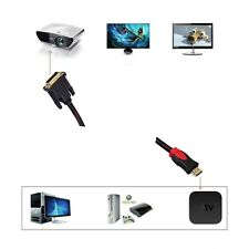 Mini 5.9ft HDMI Male to DVI-D 24+1 Male Gold Adapter Converter Cable for HDTV
