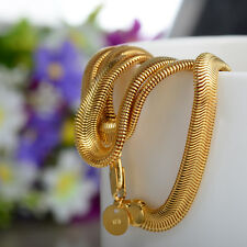 1pcs 20inch 6mm Width 18K Gold Filled Necklaces Snake Bone Chain Fashion Jewelry