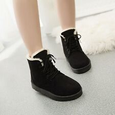 New Fashion Women Round Toe Ankle Boots Shoes Flat With Lace Up Boots N98B