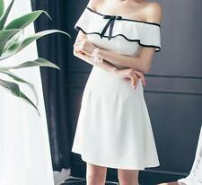 Sexy Women's off Shoulder Slim Casual Cocktail Party Evening Short Mini Dress