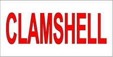 Clemshell  Red 13 Oz Vinyl Banner Sign With Grommets