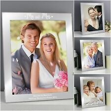 Personalised Silver Engraved Photo Frame Wedding Gift Idea Anniversary