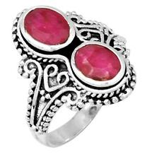 Royal Ruby Gemstone Ring Solid 925 Sterling Silver Jewelry IR36576