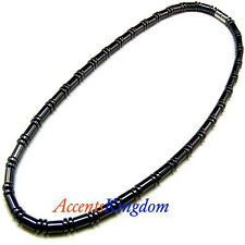 Accents Kingdom Men's Magnetic Hematite Cylindrical Bead Necklace