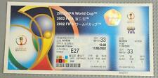 2002 FIFA World Cup KOREA/JAPAN Sky Box Matches 33 and 41 Unused Tickets