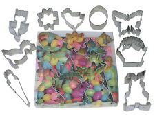 9 Piece Easter Cookie Cutter Boxed Set! Bunny Chick Egg