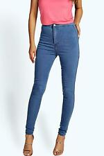 Boohoo Womens Macy High Waisted Skinny Jeans