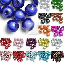 10-120pcs Acrylic Round 3D Miracle Beads DIY 4/6/8/10/12mm Wholesale 18 Colors