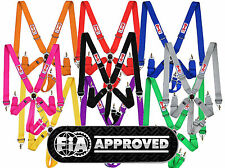 "STR 6 Point 3"" Straps Race Harness Safety F2 Seat Belt IVA & FIA Approved 2022"