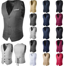 2017 Men's Formal Business Casual Dress Vest Suit Slim Fit Tuxedo Waistcoat Coat