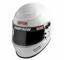Simpson Voyager 2 SA2015 Helmet 6100021, Pre Drilled Holes, White, All Sizes