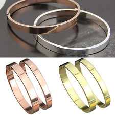 Men's Women's Copper Loer Polished Cuff Bangle Gift Bracelet Wristband Bluelans