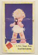 Vintage Valentine Novelty Postcard Eastbourne Mabel Lucie Attwell Child & Camera