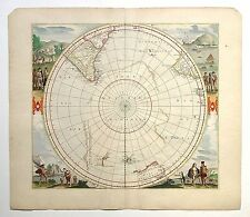 Poster Print Antique Old Maps Old Map Of The World Reprint 1