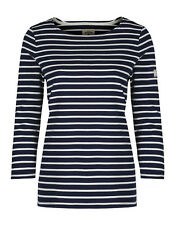 Joules Women's Harbour Striped Jersey Top - Hope Stripe French Navy W_HARBOUR