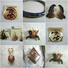 Cloisonne Jewelry Choose From Pendant Tops, Bangles, Brooches, Earrings & Sets