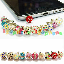 3.5MM EARPHONE COLORFUL BALL ANTI DUST JACK PLUG FOR IPHONE 6 6S PLUS SE 5S 5