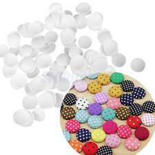 100x Plastic Round Buttons Base for DIY Fabric Cloth Buttons Crafts Supplies