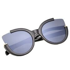 Fashion Women Black Half Plastic Frame Sunglasses ED01