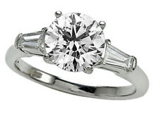 Zoe R White Gold Engagement Ring 7.5mm Cubic Zirconia (CZ) Center